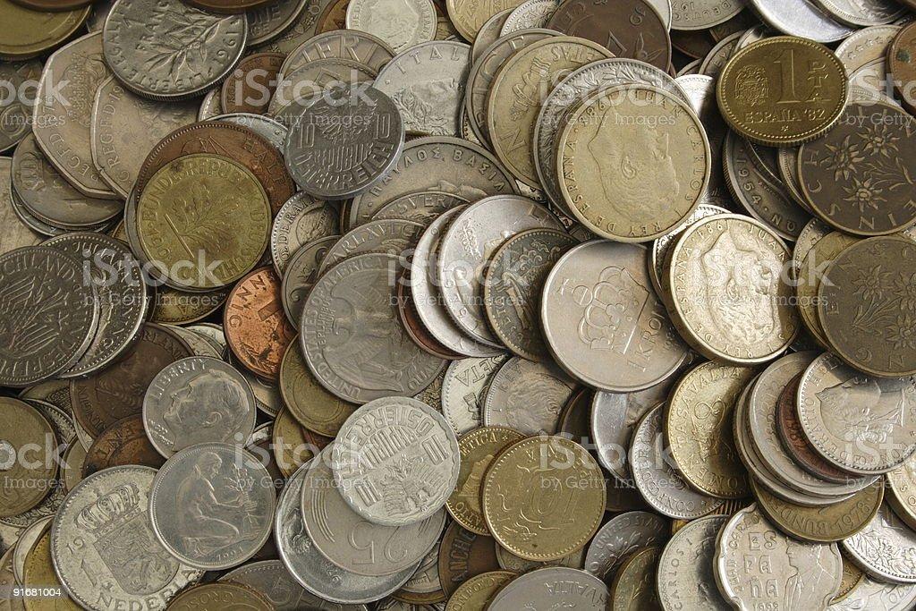 Pre Euro coins! stock photo