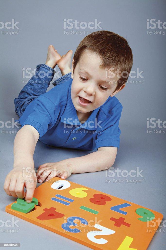 Pre School Child Learning stock photo