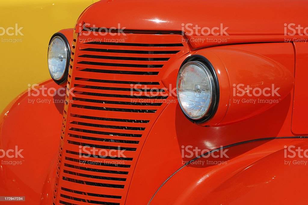 Bright Orange Paint pre1949 hot rod with bright orange paint stock photo 172947234