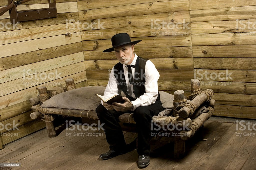Preacher with Bible stock photo