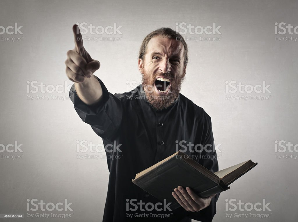 Preaching stock photo