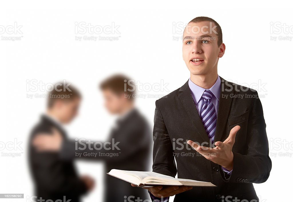Preaching the Gospel stock photo
