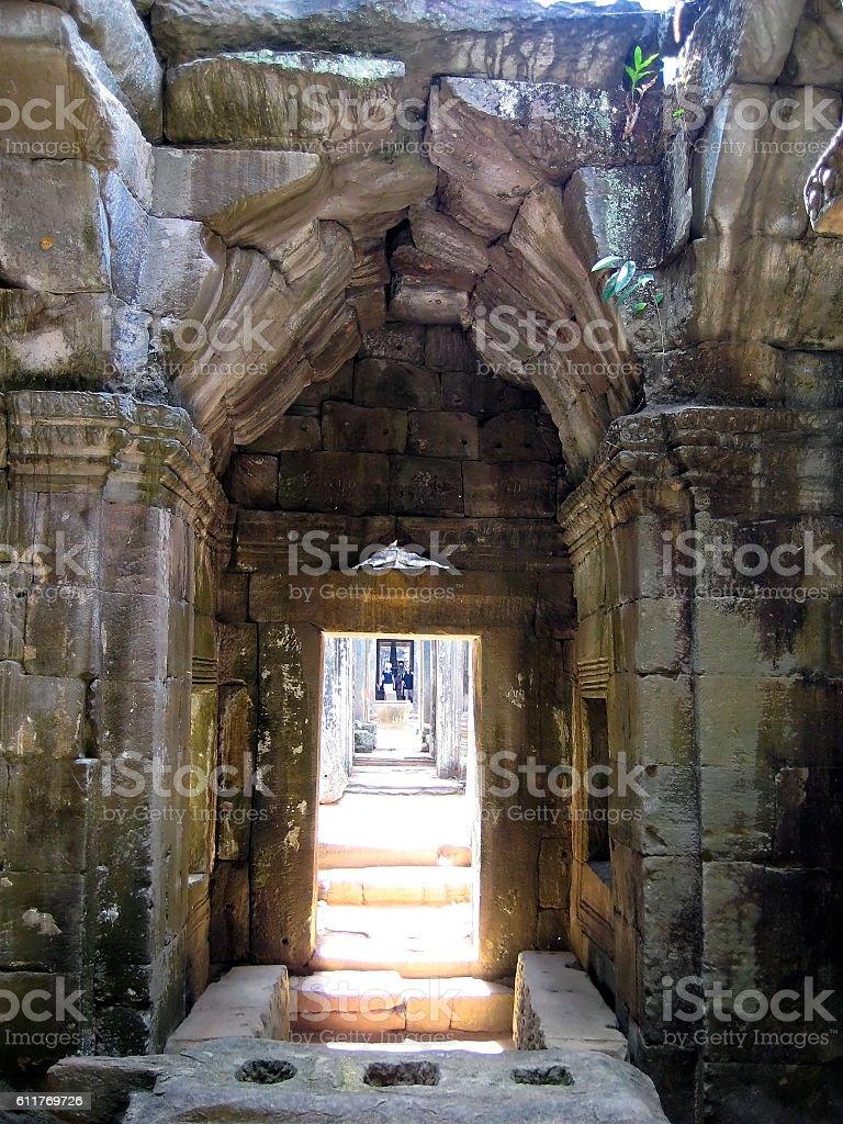 Preah Khan, Angkor kingdom, Siem Reap, Cambodia. stock photo