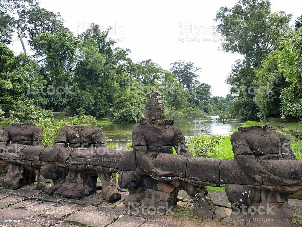 Preah Khan bridge royalty-free stock photo