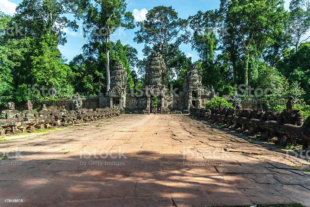 preah khan stock photo