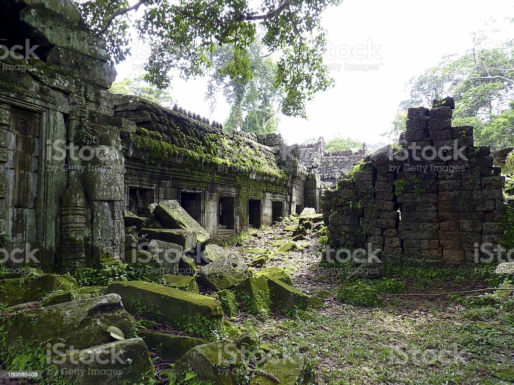 Preah Khan ruins temple royalty-free stock photo