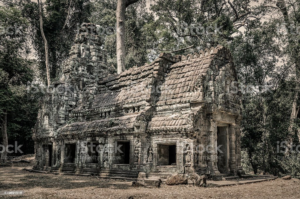 Preah Khan temple Angkor Cambodia stock photo