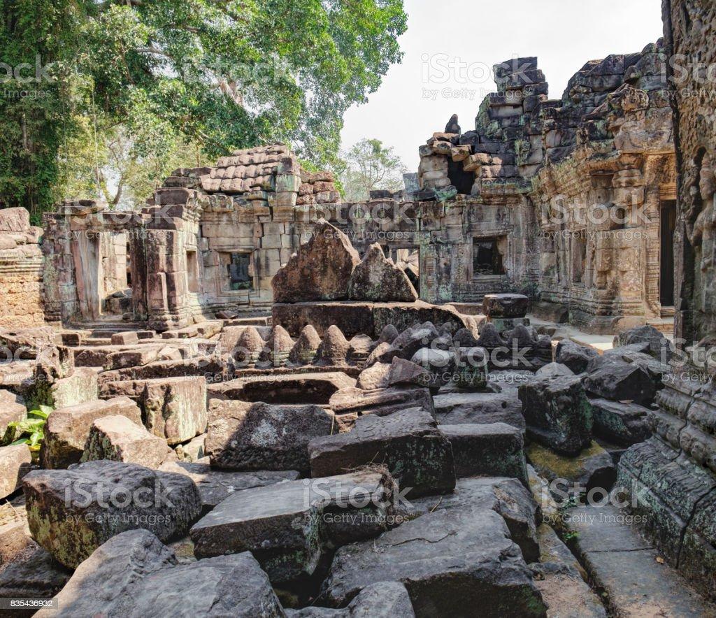 Preah Khan Temple in Siem Reap, Cambodia stock photo