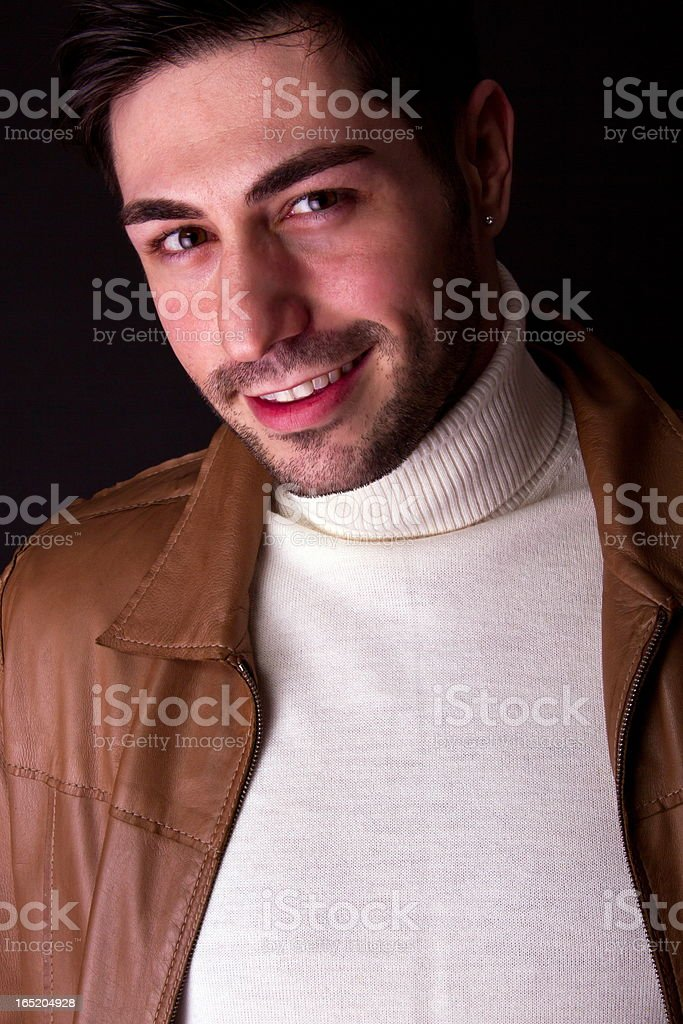 Preaty Guy With Playboy Look royalty-free stock photo