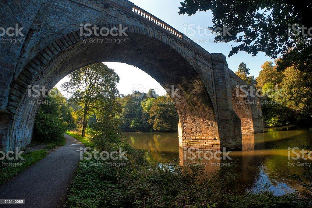 Prebends Bridge, Durham City, Durham, UK stock photo