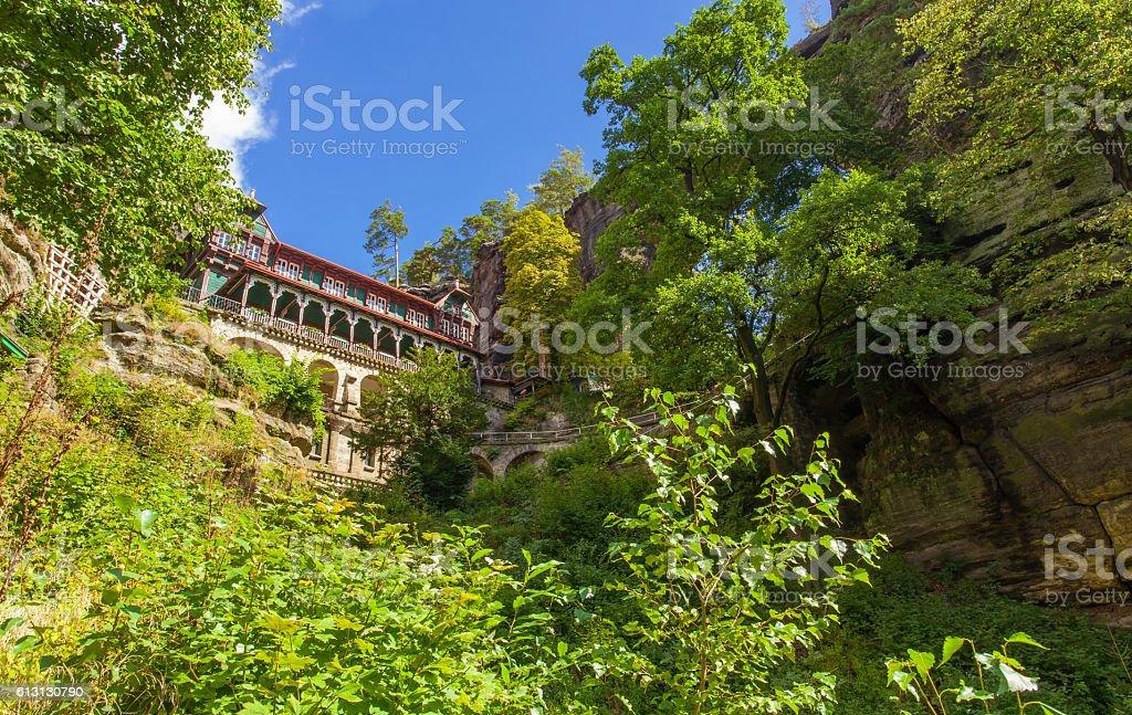 Prebischtor landscape in Bohemian Switzerland Czech Republic Eur stock photo