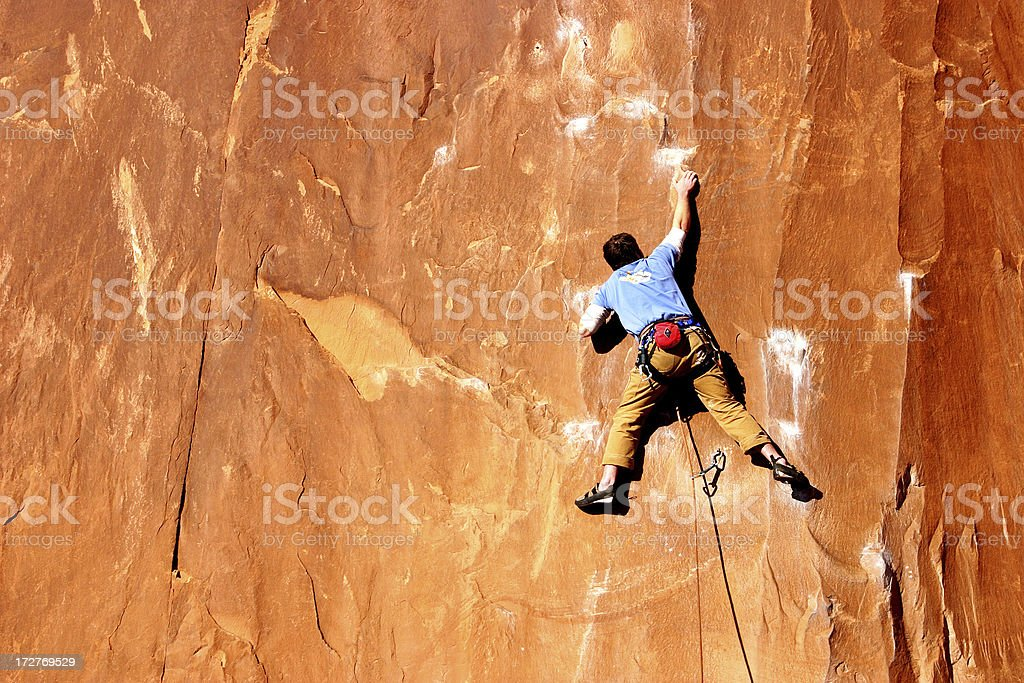'Precarious Lead; Wall Street, UT' stock photo