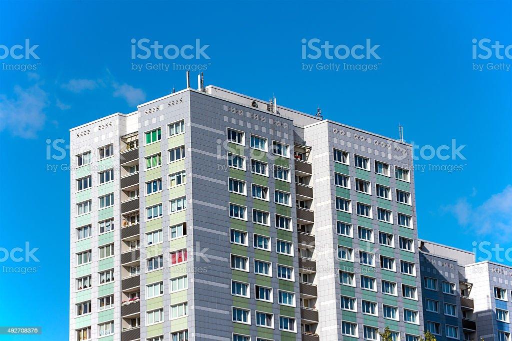 Precast apartment buildings stock photo