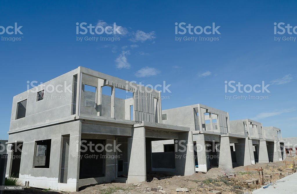 Precast Building stock photo
