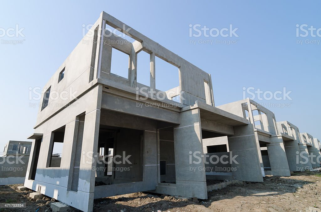 Precast Building-01 stock photo