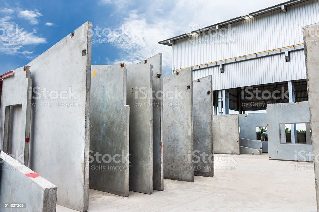 Precast concrete wall panel stock photo