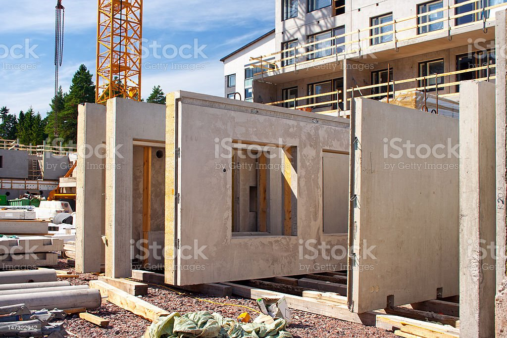 Precast concrete wall panels royalty-free stock photo