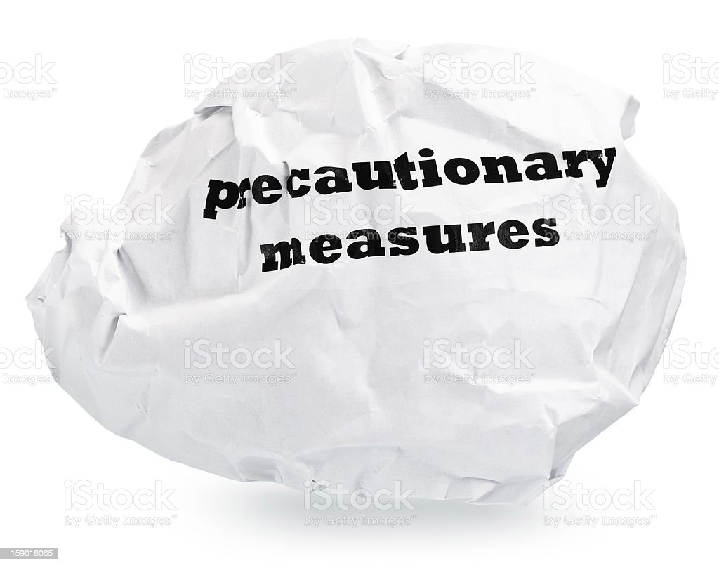 precautionary measures royalty-free stock photo