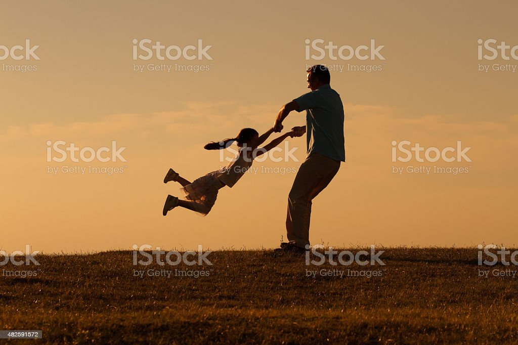 Precious family moments stock photo