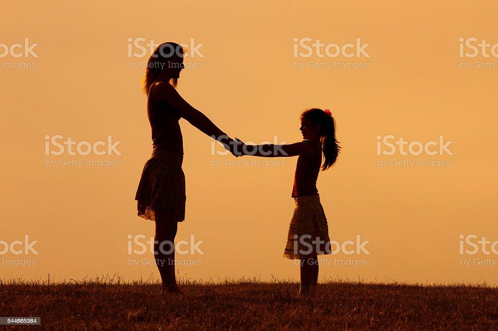 Precious family moments stock photo