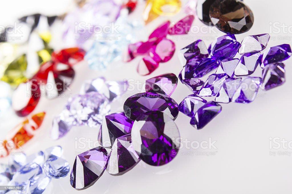 Precious gamstones royalty-free stock photo