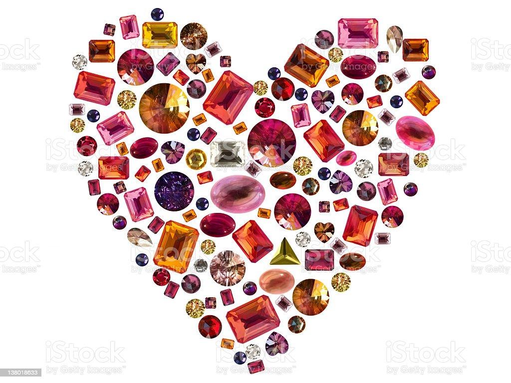 Precious heart stock photo