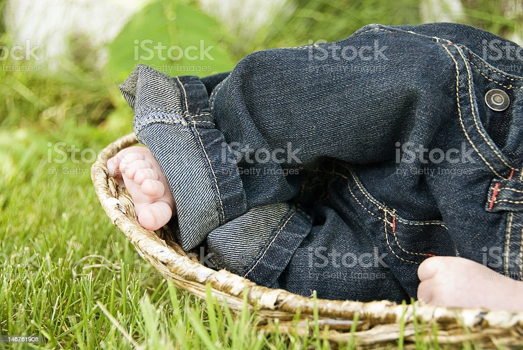 Precious little feet stock photo