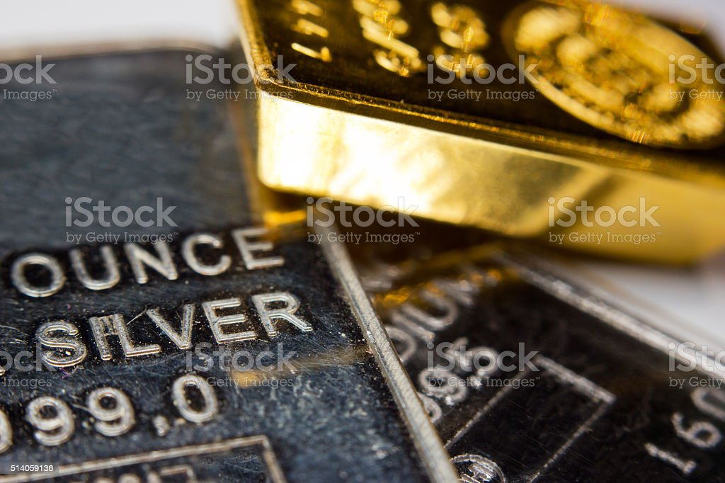 Precious metals stock photo