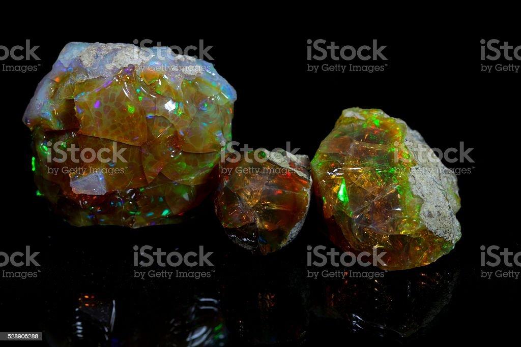 Precious opal stock photo
