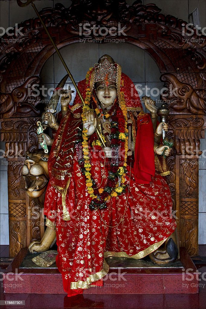 precious stone   wood statue of a Hinduism  women royalty-free stock photo
