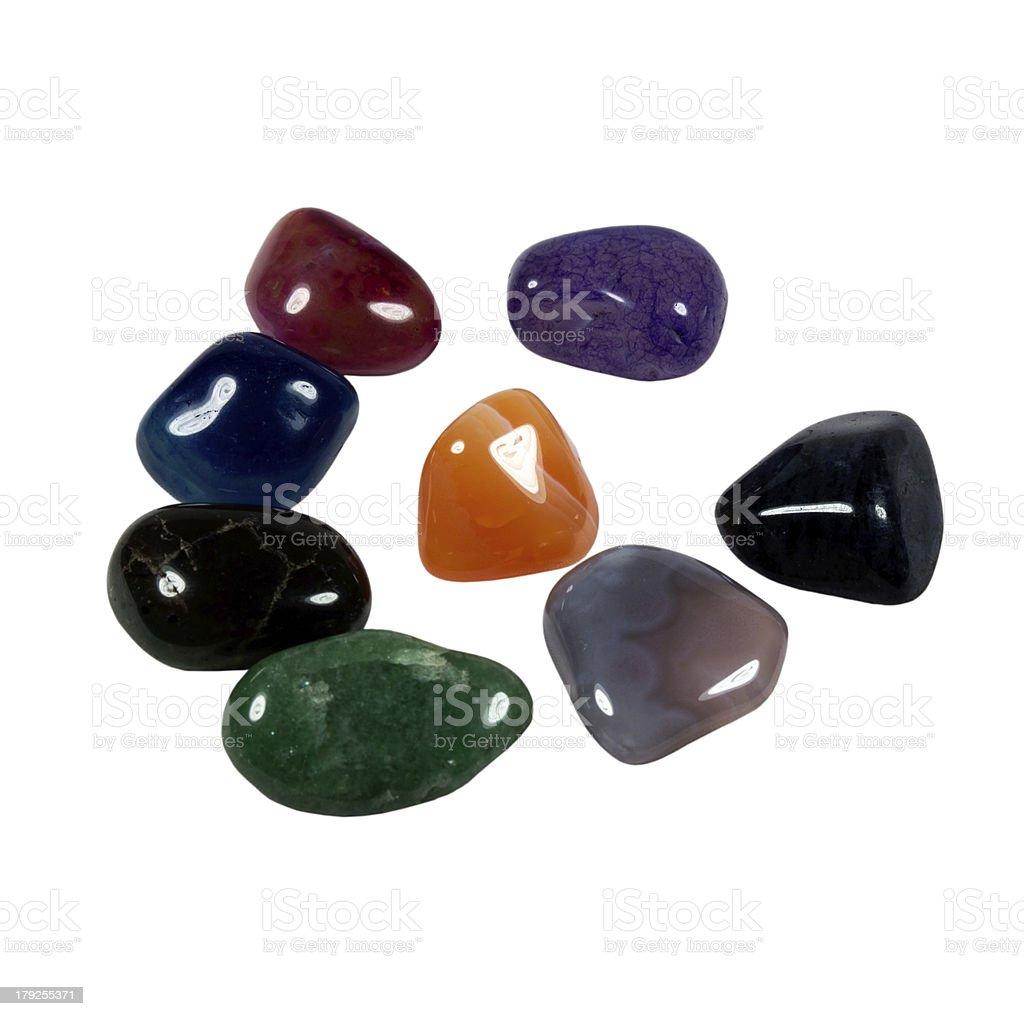 Precious stones on a white background royalty-free stock photo