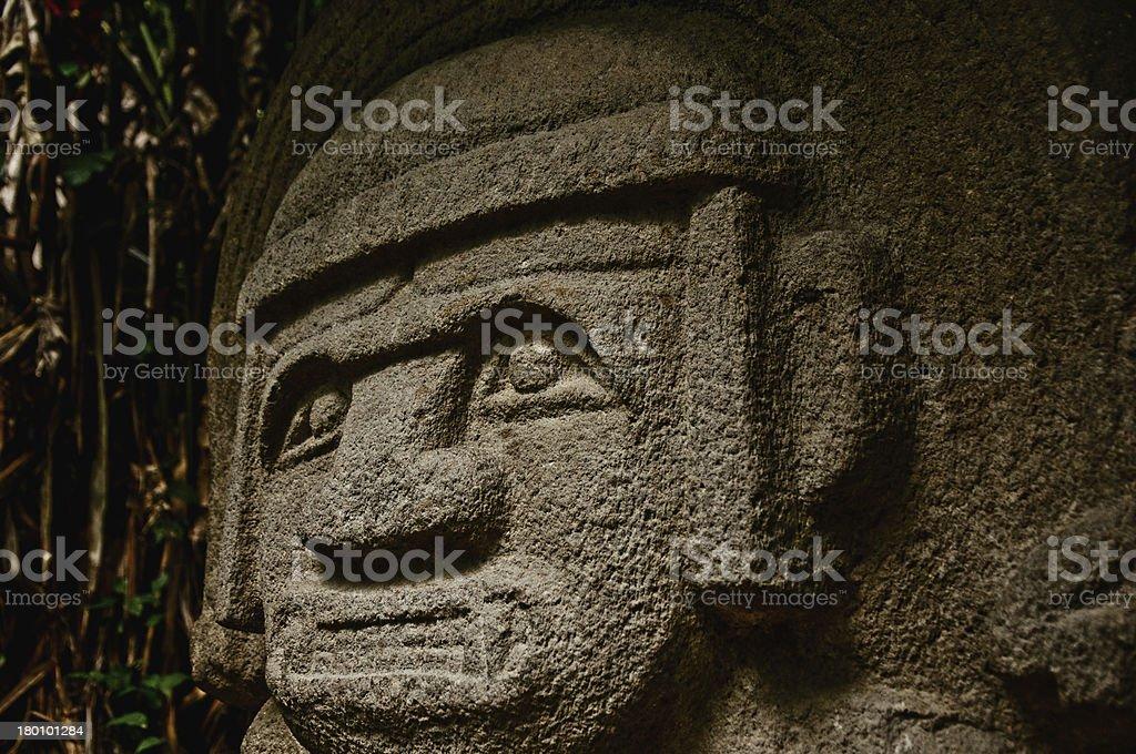Pre-Columbian Statue stock photo