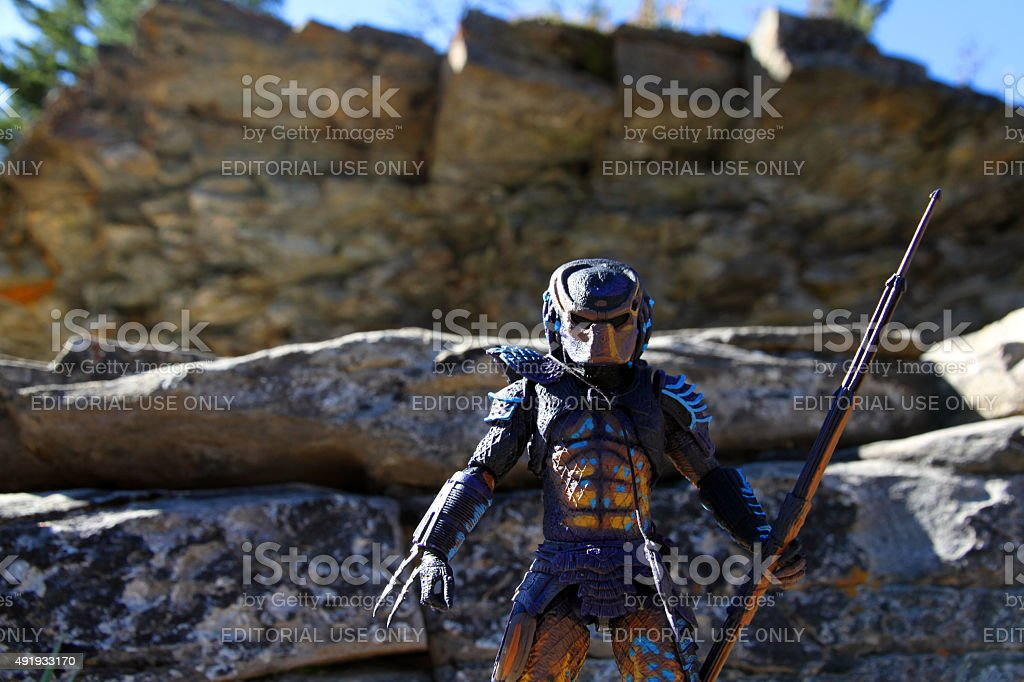 Predator and the Cliffs of Insanity stock photo