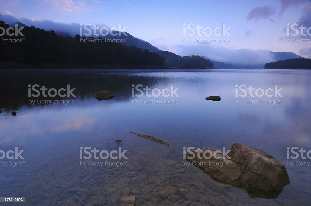 Pre-Dawn at a Mountain Lake royalty-free stock photo