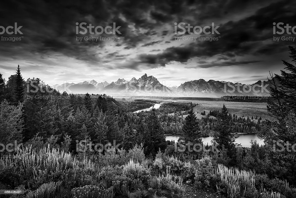 Pre-Dawn at Snake River Overlook stock photo