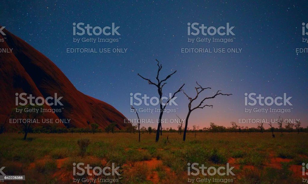Pre-Dawn At Uluru stock photo