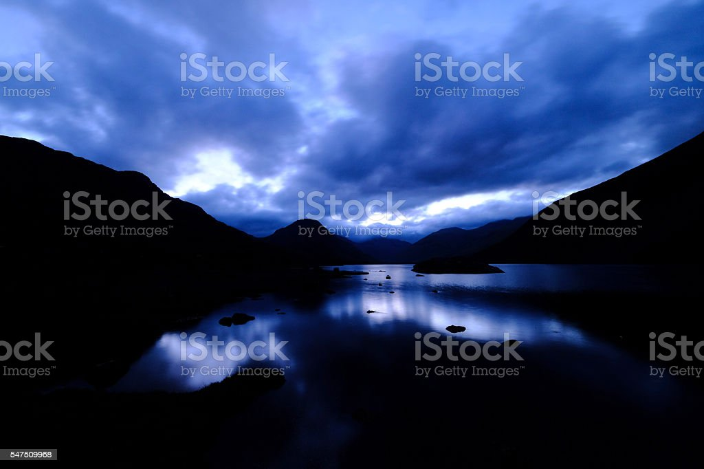 Pre-dawn Light at Wasdale stock photo