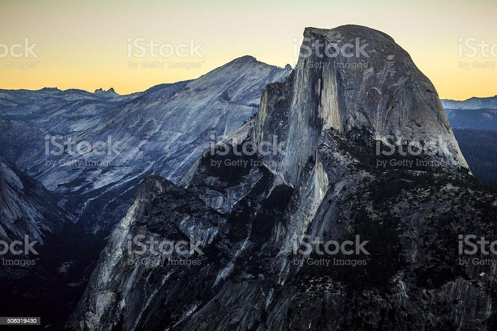 Predawn on Half Dome stock photo
