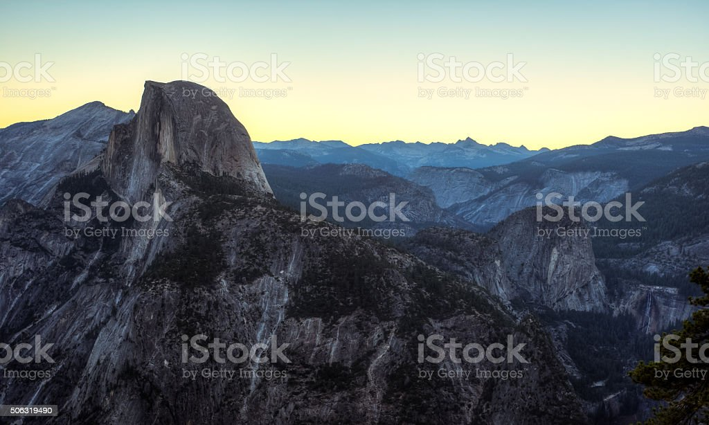 Predawn on Yosemite Wilderness stock photo