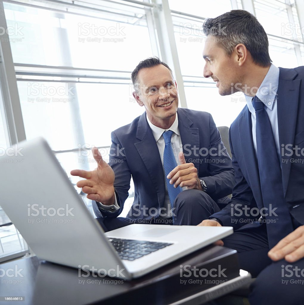 I predict a definite increase in our profit margin royalty-free stock photo