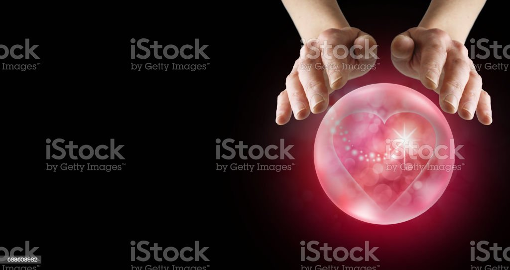 Predicting love in the future stock photo