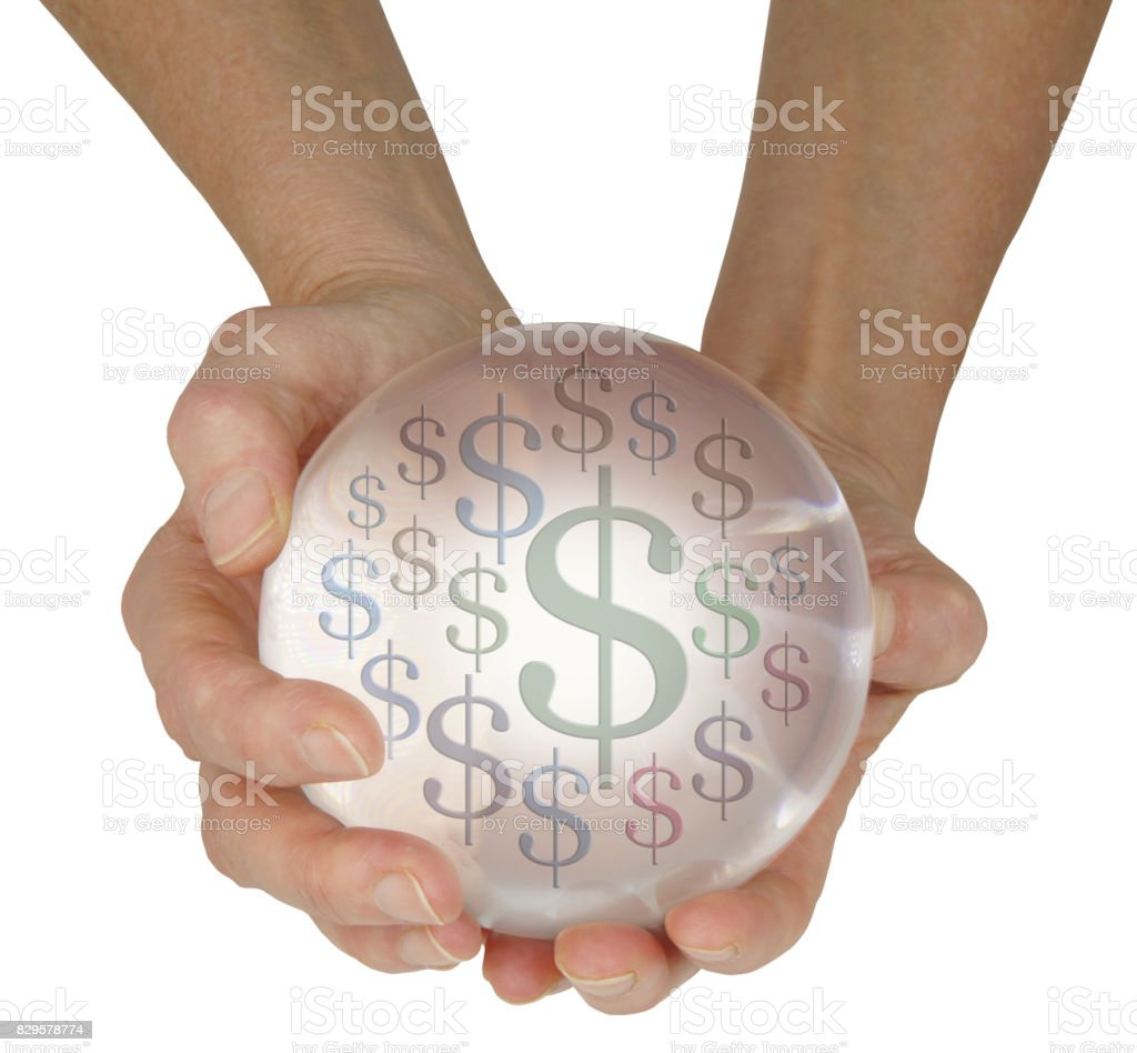 Predicting money in the future stock photo