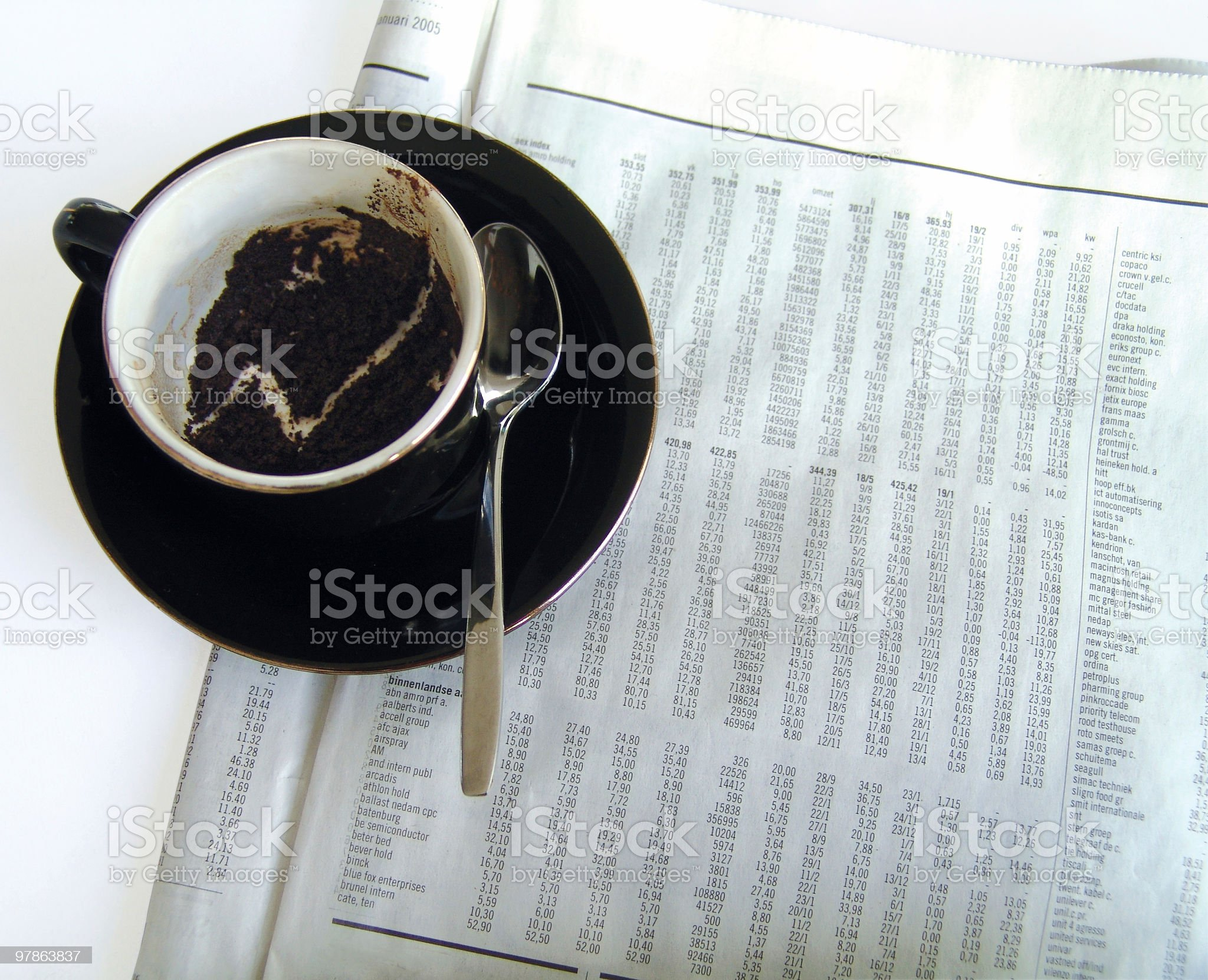 Predicting success (reading the coffee-ground) royalty-free stock photo