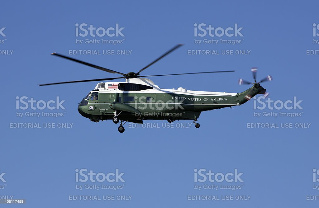 Predidential Helicopter stock photo