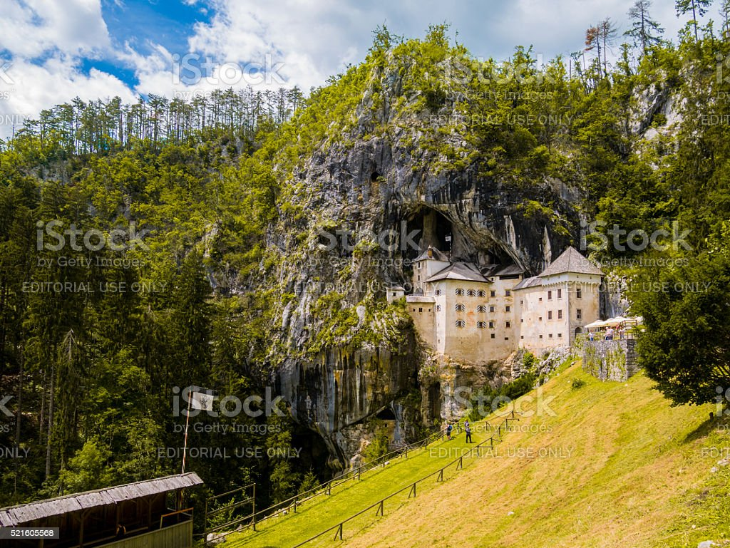 Predjama Castle in Ljubljana stock photo