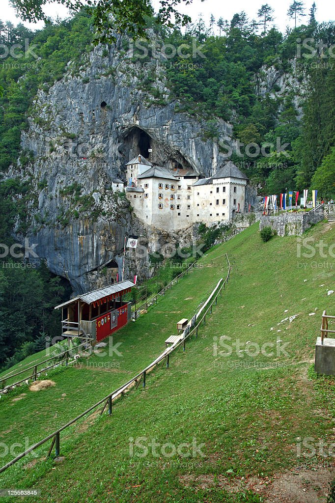 Predjama Castle stock photo