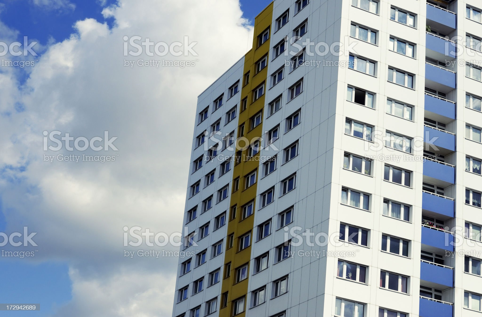 prefabricated high-rise royalty-free stock photo