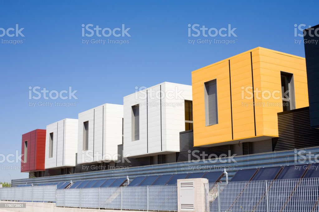 Prefabricated house stock photo