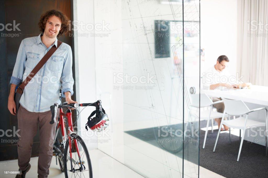 I prefer eco-friendly transportation stock photo
