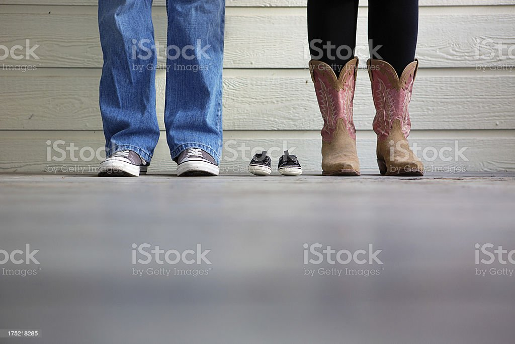 Pregnancy Announcement stock photo